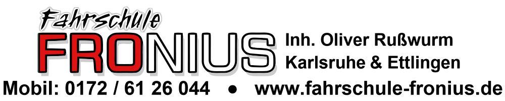 Sponsoren: Fahrschule Fronius